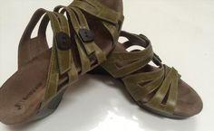 37.36$  Buy now - http://vimfu.justgood.pw/vig/item.php?t=klz5hul48960 - Women's Romika Waikiki Green leather velcro strappy wedge sandals sz 39 US 8.5-9 37.36$