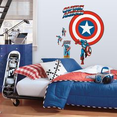 19 Best Captain America Room Images Child Room Quartos Kids Bedroom