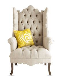 Love wing back chairs.  @neiman marcus