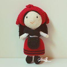 muñeca galleguiña, amigurumi galleguiña, tejida por artesesa