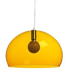 Kartell Fly Ceiling Suspension Light Transparent Yellow
