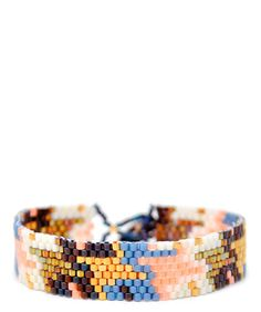 Digging this colour palette. #Peach #Houndstooth #Bracelet. Made in #Ghana