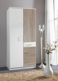 Kleiderschrank Click 90,0 Weiß Sägerau 10375. Buy now at https://www.moebel-wohnbar.de/kleiderschrank-click-90-0-weiss-saegerau-10375.html