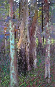 Rick Stevens: Forest Near Justice Bay, pastel