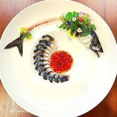 Food art: By Yankavi Mackerel Gourmet Recipes, Cooking Recipes, Food Decoration, Culinary Arts, Restaurant Recipes, Creative Food, Food Design, Food Presentation, Food Plating