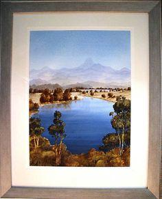 Australian Artist James Fearnley s W colour Mt Warning & The Tweed River Fraser Island, Sunshine Coast, Australian Artists, South Wales, Tweed, Coastal, River, Colour, Frame