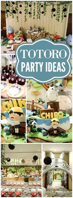 You have to see this fantastic Totoro birthday party! See more party ideas at CatchMyParty.com!