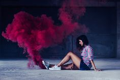 Smoke bomb photography by piyushdubey471