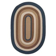 Frontier 3 ft. x 5 ft. Blue Braided Area Rug