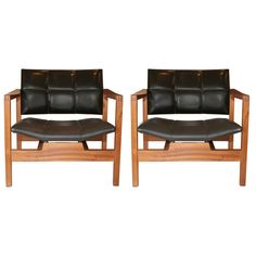 Michel Mortier; Palisander Frame Arm Chairs, 1959.