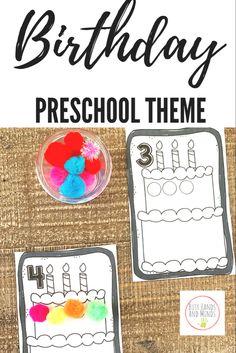 Birthday cake counting mats for preschool Preschool Birthday, Kids Birthday Themes, Birthday Activities, Pre K Activities, Birthday Book, Preschool Learning Activities, Preschool Themes, 4th Birthday, Preschool Activities
