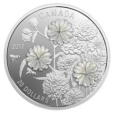 Pearl Flowers - 1 oz. Pure Silver Coin - Mintage: 6,000 (2017)