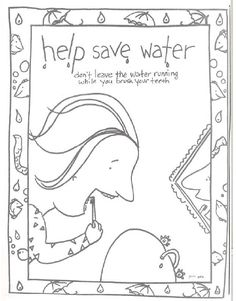 Teach preschool children the importance of Earth Day. This free printable Help Save Water coloring book is one of the many printable offerings to help with Earth Day lesson planning. World Earth Day, World Water Day, Earth Day Activities, Color Activities, Coloring Pages For Kids, Coloring Books, Earth Day Crafts, Earth Science, Science Week