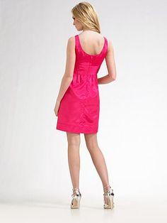 pink dress, back view