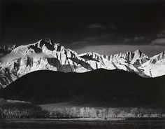 Winter Sunrise, The Sierra Nevada from Lone Pine, California (1944) by Ansel Adams