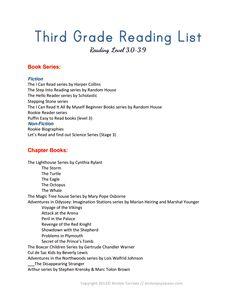 4th grade book list pdf