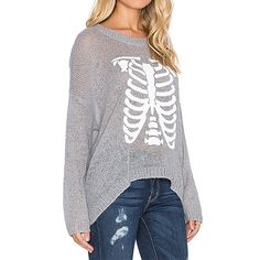 Hodoyi Women Fashion New Autumn Sweater 2016 Crew Neck Long Sleeve Solid Gray Pullovers Funny Print Knitting Sweater