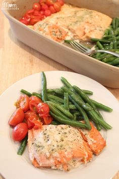 Quick  Healthy Recipe: One Pan Baked Salmon  Vegetables