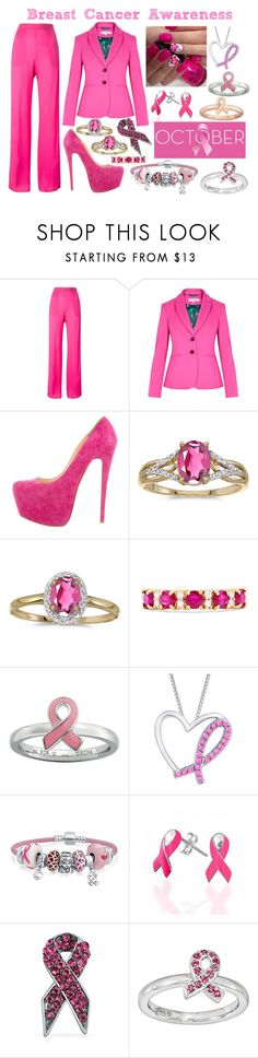 """Breast Cancer Awareness #2"" by the-game-is-something ❤ liked on Polyvore featuring Dsquared2, Boden, Christian Louboutin, BillyTheTree, Effy Jewelry, Stacks and Stones, Bling Jewelry and Religion Clothing"