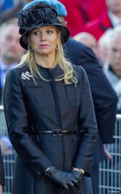A sombre yet elegant Queen Maxima