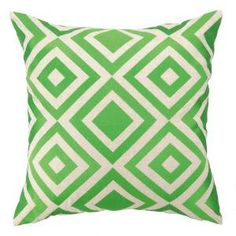 Trina Turk Merced Embroidered Pillow in Green. Product in photo is from www.wellappointedhouse.com