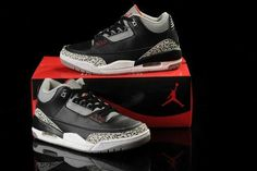 sale retailer 60d46 6e71a Homme Nike Air Jordan 3 Noir Gris Rouge  A32e  Grey Shoes, Shoes Uk