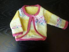 Handmade knitted baby girls multi coloured lemon by BulldogKnits, £16.00