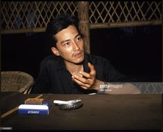Prince Norodom Sihamoni (crowned King of Cambodia in 2004), son of Prince Norodom Sihanouk, with the Khmer Rouge in the Cardamom Mountains of Cambodia, 12th February 1981.