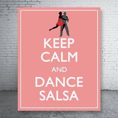 Keep+Calm+and+Dance+Salsa+Light+Salmon++Printable+by+CustomBazaar,+$4.90