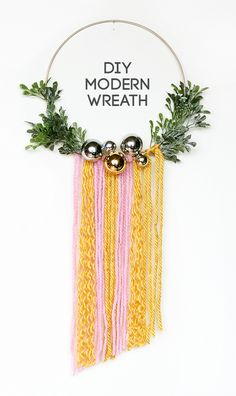 DIY Modern Wreath Wall Hanging by The Sweet Escape