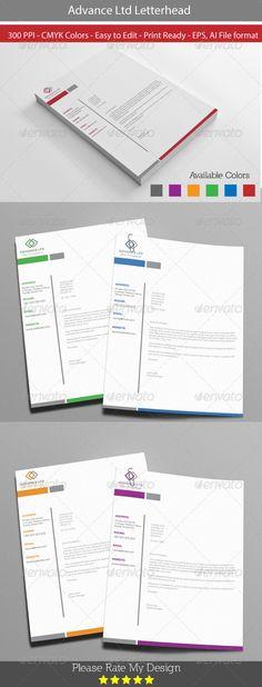 Advance Letterhead Design
