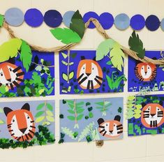 We're WILD about ART in 2nd Grade! Our tiger collages are terrific! For more information please follow me on Instagram @young...
