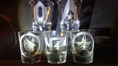 Mass Effect 1 2 3 andromeda 5 shot glass set collection