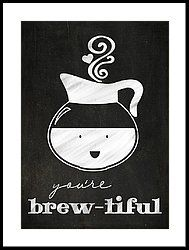 You Are Brewtiful Framed Print by Teresa Mucha