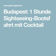 Budapest: 1 Stunde Sightseeing-Bootsfahrt mit Cocktail