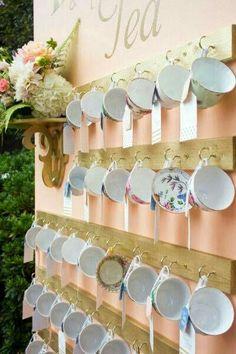tea cup place card idea