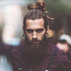 quel style barbe choisir cheveux longs man bun barbe hipster