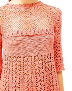 Polina Kraynova Crochet Jumper, Crochet Jacket, Crochet Blouse, Knit Crochet, Crochet Summer Dresses, Yarn Inspiration, Crochet Magazine, Freeform Crochet, Crochet Stitches Patterns