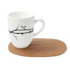 Love Mug & saucer - Vine (Set of 2) - Handcrafted mug and saucer (made from sustainable wood). Available at sourced4you.com.au
