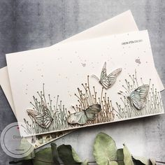 fairy garden Roses /& butterflies note card set of four handmade blank A2 notecards with envelopes gold shimmer