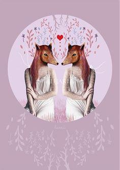 SantoSfery / Mirror/Ona zviera (drobné srdce)