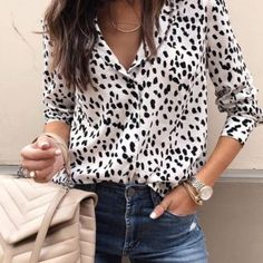 Shop a great selection of Achicday Women's Fashion V Neck Leopard Print Shirt Long Sleeve Button Down Tops Blouse. Find new offer and Similar products for Achicday Women's Fashion V Neck Leopard Print Shirt Long Sleeve Button Down Tops Blouse. Estilo Fashion, Ideias Fashion, Women's Fashion, Fashion Women, Camo Fashion, Leopard Fashion, Office Fashion, Unisex Fashion, Lolita Fashion