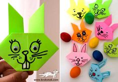 ORIGAMI Easter Bunny for kids