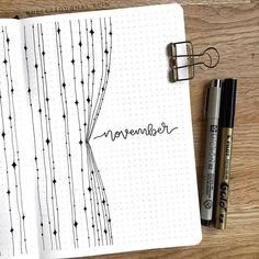 Welcome November! (via - Welcome November! (via Welcome November! Bullet Journal Aesthetic, Bullet Journal Notebook, Bullet Journal Ideas Pages, Bullet Journal Spread, Bullet Journal Inspo, Bullet Journal Layout, My Journal, Journal Diary, Tittle Ideas