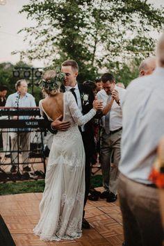 Dita Backless Boho Lace Wedding Dress Bohemian Bride Paige Marries in the Aurora Wedding Dress Bridal Gowns, Wedding Gowns, Ivory Wedding, Wedding Hair, Rustic Wedding, Wedding Venues, Wedding Ceremony, October Wedding Dresses, Wedding Frocks