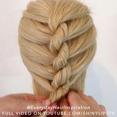 Medium Hair Braids, Summer Hairstyles For Medium Hair, Hair Tutorials For Medium Hair, Hairdo For Long Hair, Cool Braids, Easy Hair Braids, Diy Braids, Hair Style Vedio, Diy Hairstyles