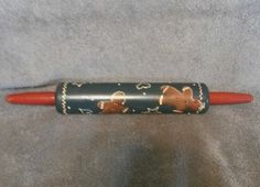 Hand Painted Folk Art Rolling Pin Gingerbread Cookies | eBay