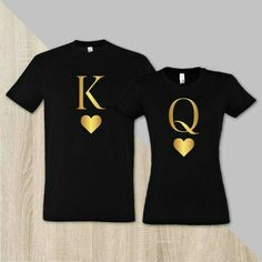 Couple matching royal t-shirt King and Queen husband and wife shirts couple shirts king t-shirt queen t-shirt pärchen t-shirts - Wify Shirt - Ideas of Wify Shirt - Couple matching royal t-shirt King with Queen by SayYouLoveMeGifts Cute Couple Shirts, Couple Tees, Family Shirts, T Shirt Couple, Couple Shirt Design, Couple Clothes, Matching Couple Outfits, Matching Couples, Matching Shirts