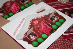 gingerbread flap Christmas card