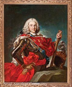 FELIPE V de Borbón y Baviera (1683 - 1746), Rey de las Españas y de las Indias de 1700 a 1724 y de 1724 a 1746. / By L.M. Van Loo's studio.